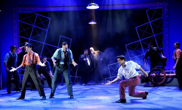 "The cast performs ""The Crapshooters Dance"" in the musical comedy, Guys and Dolls"