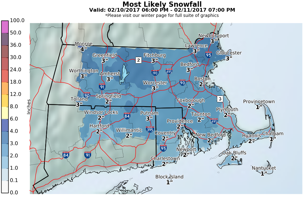 More Snow Expected In RI Saturday Thursday Accumulation Totals - Map of ri
