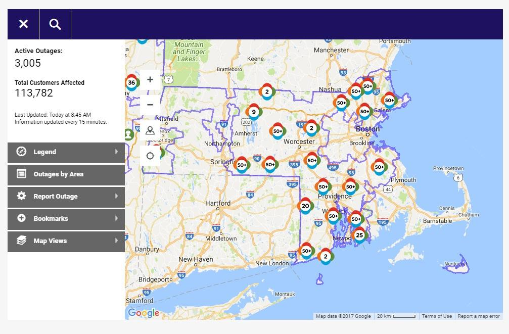 More Than People Not Expected To Have Power Until Early - National grid power outage map ri