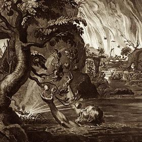 Detail from Tantalus's Torment, by Bernard Picart (1673-1733)