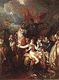 <em>The  Fatal Wounding of Sir Philip Sidney,</em> Benjamin West, 1805 Oil on canvas