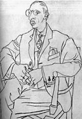 Sketch of Igor Stravinsky by Pablo Picasso
