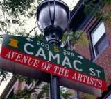 Philadelphia's Camac Street is home to the Plastic Club and Sketch Club
