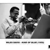 Miles Davis in one of the 1959 recording sessions of <em>Kind  of Blue</em>