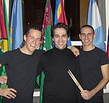 Marimba and percussion duo Perca Du with composer Avner Dorman
