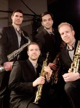 PRISM Quartet is celebrating its 25-year anniversary. Members include Matthew Levy, Timothy McAllister, Zach Shemon, and Taimur Sullivan.