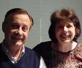 Composer Sergio Cervetti and Jill Pasternak at WRTI's studio.