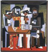 <i>Three Musicians</i>, 1921, Pablo Ruiz y Picasso, Spanish, Oil on canvas, 80 1/2 x 74 1/8 inches (204.5 x 188.3 cm), A. E. Gallatin Collection, 1952
