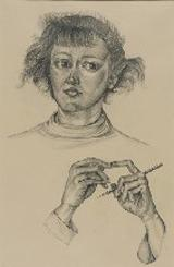 Sylvia Fein (b. 1919) Self-Portrait, 1949<br>