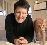 Jennifer Higdon and her cat, Beau.