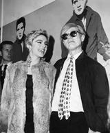Edie Sedgwick and Andy Warhol at the ICA pre-show party on October 7, 1965. From the Temple University Libraries, Urban Archives