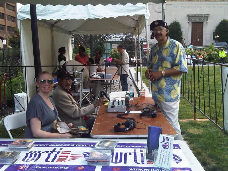 Maureen Malloy, Bob Perkins, and Jeff Duperon at the 2012 Dupont Clifford Brown Jazz Festival earlier this week