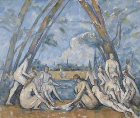 The Large Bathers, 1906, Paul Cézanne, French, Oil on canvas