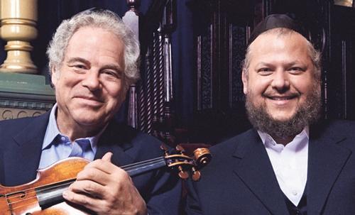 Violinist Itzhak Perlman and Cantor Yitzchak Meir Helfgot