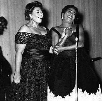 Sarah Vaughan and Ella Fitzgerald