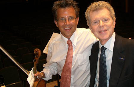 "Van Cliburn joined Michael in a performance of Rachmaninoff's Vocalise at a chamber music recital in 2007. The legendary pianist praised Michael's ""gorgeous sound and his heartfelt passion and intensity."""