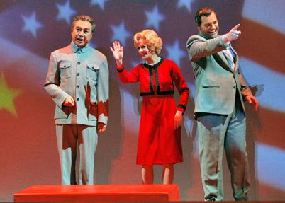 Mao Tse-tung: Simon O'Neill; Pat Nixon: Maria Kanyova; Richard Nixon: Brian Mulligan