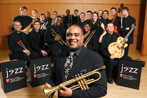 Terrell Stafford leads the Temple Universiry Jazz Band