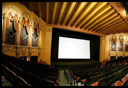 Inside the historic Ambler Theater