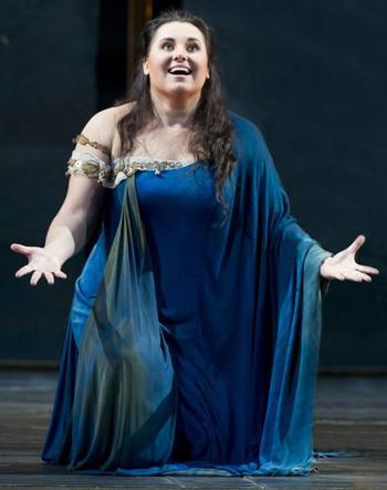 Liudmyla Monastyrska makes her Met Opera debut singing the title role of Verdi's AIDA.