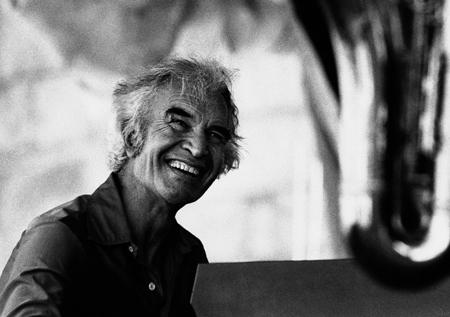 Jazz pianist Dave Brubeck at the Newport Jazz Festival in 1981