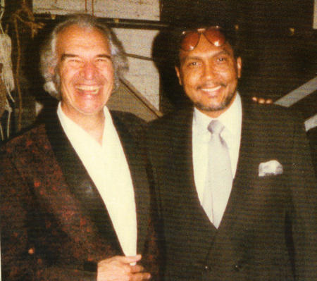 Dave Brubeck and Bob Perkins in 1983 - backstage at the Academy of Music where BP was the emcee for a jazz concert featuring Brubeck and his sons performing with the Modern Jazz Quartet.