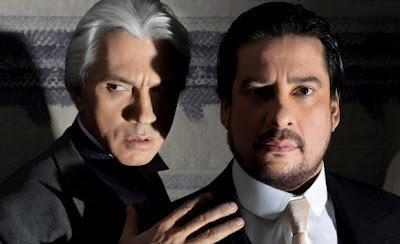 Dmitri Hvorostovsky sings Anckarström, and Márcelo Àlvarez sings King Gustavo III in Verdi's Un Ballo in Maschera.