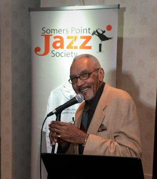 WRTI's Bob Perkins at a 2012 Somers Point Jazz Society event.