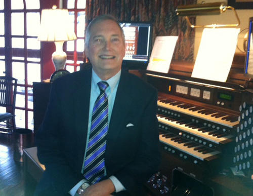 Organist Michael Stairs at home