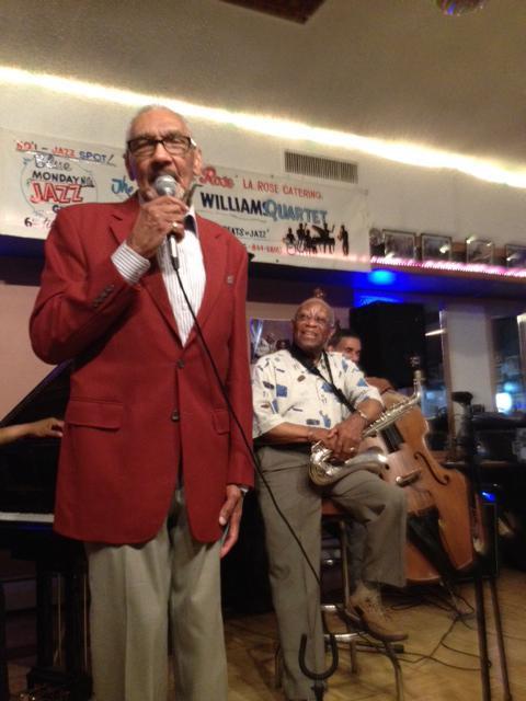 WRTI's Bob Perkins with Tony Williams at LaRose Jazz Club in Germantown