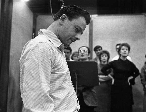 Sondheim in 1964, in rehearsal for Anyone Can Whistle