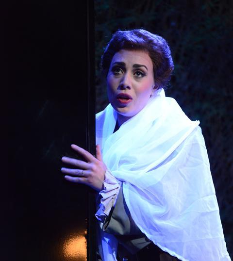 Soprano Marina Costa-Jackson sings Amelia in AVA's production of Un ballo in maschera.