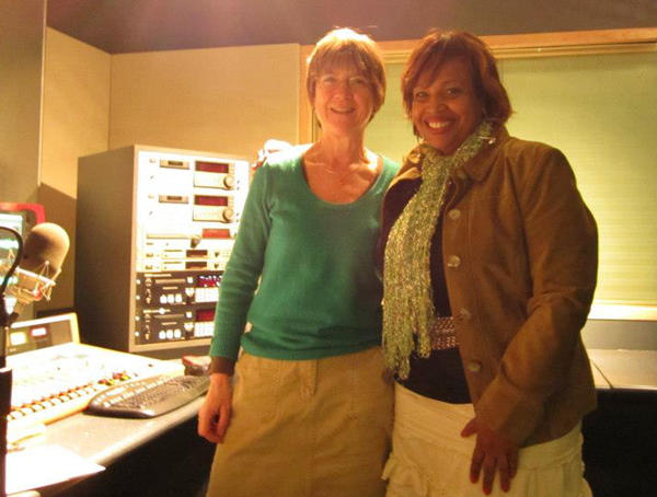 WRTI's Susan Lewis with Serena Sol Brown