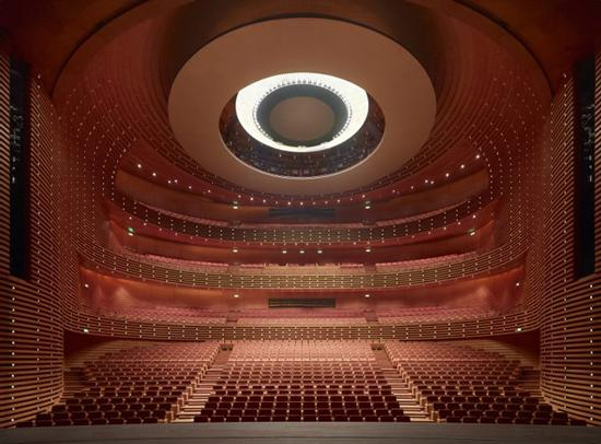This is the opera house in the Tianjin Grand Theater