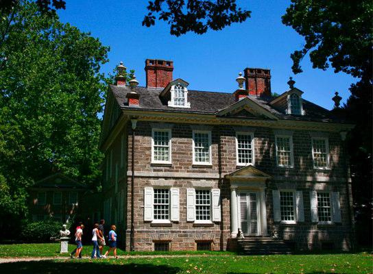 Cliveden is located in the Germantown section of Philadelphia, was built between 1763 to 1767 by Benjamin Chew.