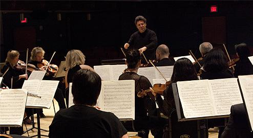 Sir Dirk Brosse leading The Chamber Orchestra of Philadelphia.