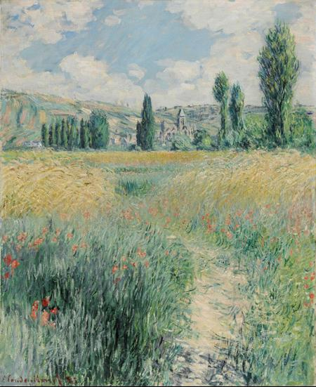 Path on the Island of Saint Martin, Vétheuil, 1881, Claude Monet, French, 1840 - 1926, Oil on canvas, 29 x 23 1/2 inches, 125th Anniversary Acquisition. Gift of John C. Haas and Chara C. Haas, 2011