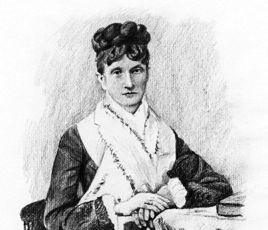 Countess von Meck (1831—1894) supported Tchaikovsky for 13 years, but they never met.