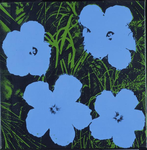Flowers, 1964. Andy Warhol, American, 1928 - 1987. Screenprint on canvas, 24 x 24 x 1 inches. Partial and promised gift of Anne d'Harnoncourt and Joseph Rishel in memory of Sarah Carr d'Harnoncourt, 2001. © Andy Warhol Foundation for the Visual Arts
