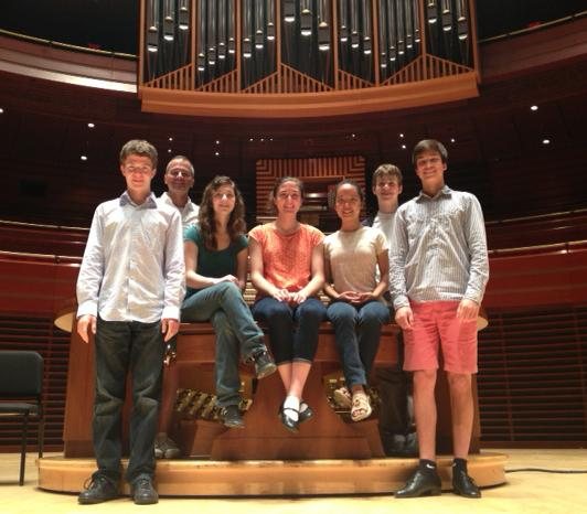 Students from the annual Macy's/Sansom Foundation Organ Camp, July 2013