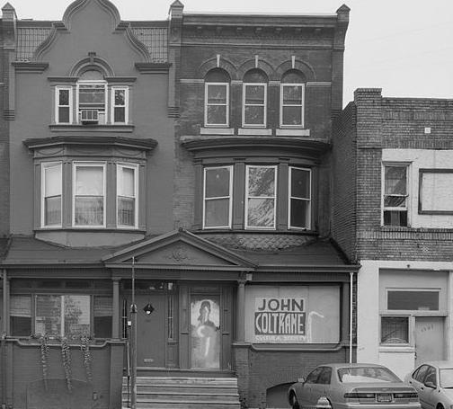 John Coltrane lived in a rowhome at 1511 North 33rd Street in the Strawberry Mansion section of North Philadelphia from 1952 to 1958.