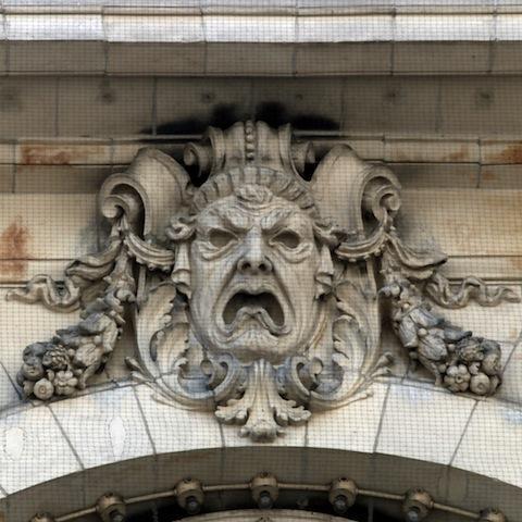 Tragedy Mask, Cutler Majestic Theatre, Boston