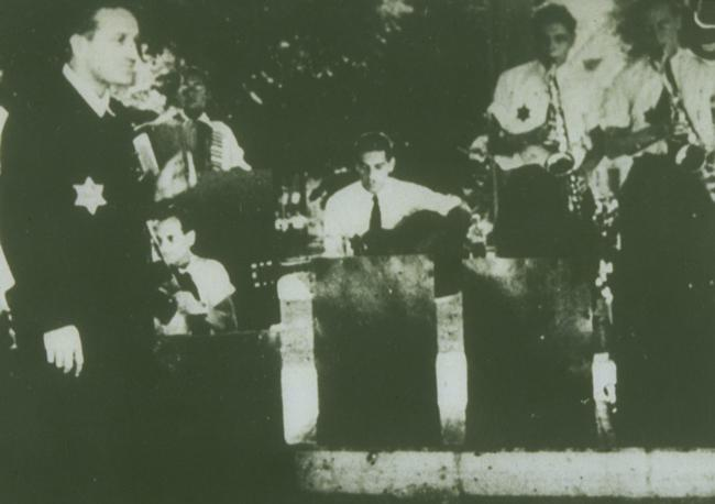 The Ghetto Swingers, a jazz band formed in Terezin