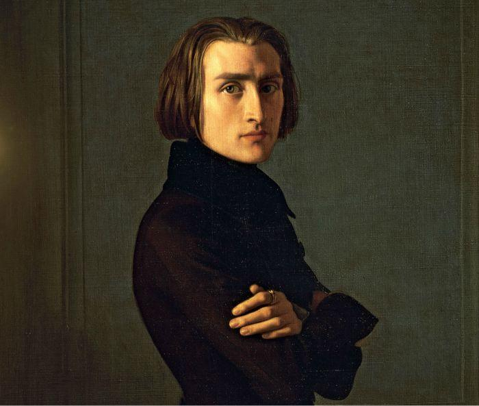 Hungarian composer Franz Liszt, oil on canvas by Henri Lehmann, 1840; in the Carnavalet Museum, Paris
