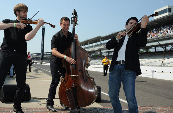 Performing at the Indianapolis Motor Speedway