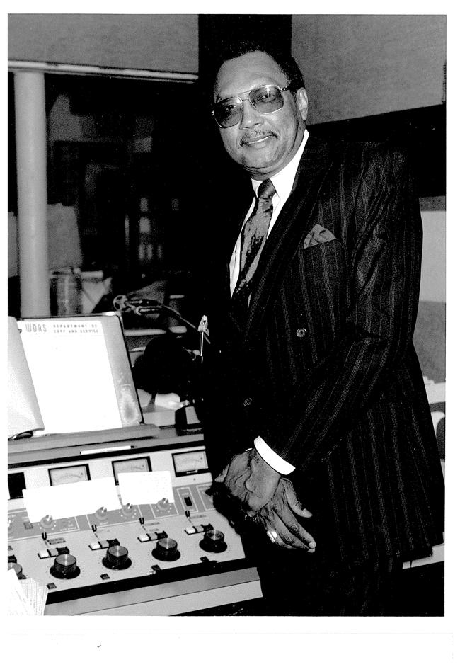 About to host his talk show on WDAS in the mid '70s.