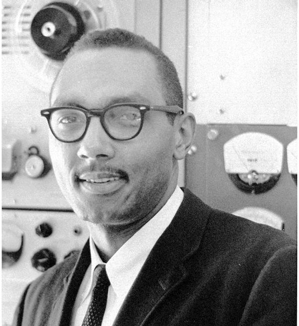Bob in the mid '60s - a seasoned veteran on the job for one year at WGPR in Detroit.