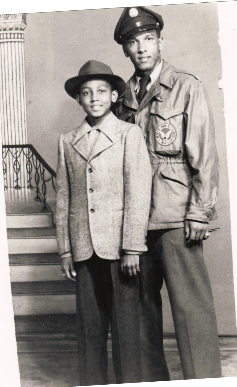 A young BP with his brother Joe. Bob says that it was Joe who first introduced him to jazz.