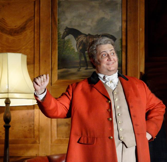 Baritone Ambrogio Maestri sings the title role in Giuseppe Verdi's FALSTAFF.
