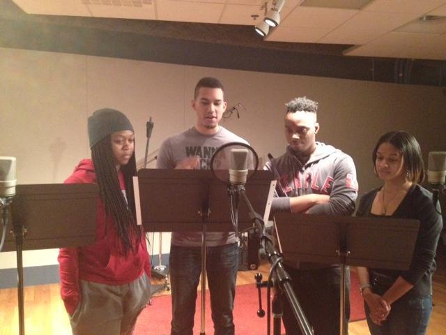 Afternoon Drive Movies & Entertainment team: (from left) Tesheya Santos, Brandon Rivera, Mike Barnett, Angel Clardy